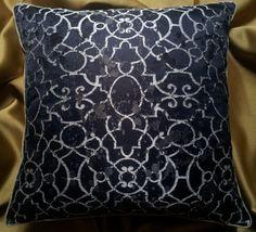 Throw Pillow Cushion Cover Silk Lampas Rubelli by OggettiVeneziani