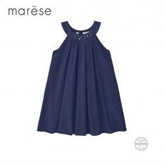 b9d133dc87f76 Robe Marèse édition limitée Swarovski® en crêpe coloris bleu  swarovski   marese  robes