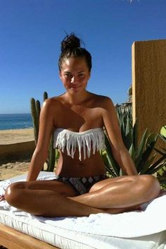 Adorable fringe bikini