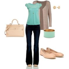 """""""Nude and Mint"""" by lindsey-ellis on Polyvore"""
