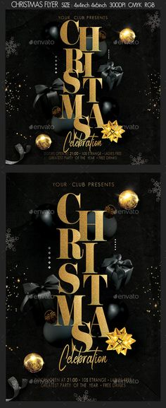 Christmas by leniel   GraphicRiver Christmas Flyer, Merry Christmas, Xmas, New Years Party, New Years Eve, Flyer Size, Club Flyers, New Year 2018, Party Flyer