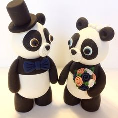 Panda Wedding Cake Topper  Choose Your Colors by topofthecake, $60.00