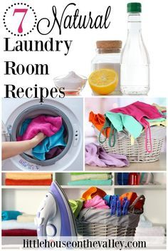 Today let's head into to the laundry room, as I share with you seven fresh natural laundry room recipes. These are simple solutions for Springtime clean laundry, and even a tip for those stinky front loading washing machine rings.