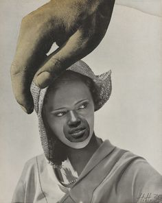 "magictransistor: "" Hannah Höch. Untitled (Large Hand Over Woman's Head), Bifreto, Monument I: From an Ethnographic Museum, The Big Step, Never Keep Both Feet on the Ground, Love in the Bush. 1924-1940. """