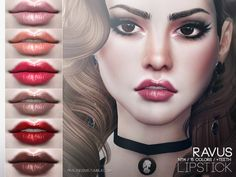 The Sims Resource: Ravus Lipstick N114 by Pralinesims • Sims 4 Downloads