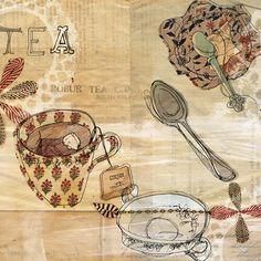Paula Mills and Shelley Gardner. #illustration #tea