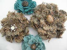 Fabric flowers! They're fun and super simple to make.