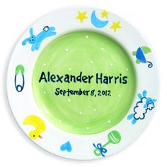 Charm Boys Hand-Painted Ceramic Plate