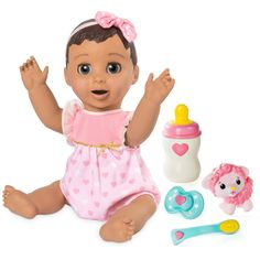 Luvabella Responsive Baby Doll with Realistic Expressions and Movement - Blonde Hair. This is cute looks like baby alive dolls which are so popilar I can't find them on the shelf. Blonde Babys, Blonde Baby Girl, Blonde Hair, Baby Toys, Kids Toys, Interactive Baby Dolls, Zapf Creation, Baby Girl Dolls, Christmas Toys