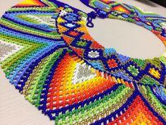 Kali collar embera chami collar Cerimonial con abalorios   Etsy Camilla, Crochet Coaster Pattern, Art Perle, Ancient Symbols, Beaded Choker, Handmade Items, Handmade Gifts, Hama Beads, Bead Art