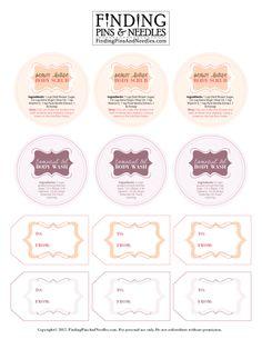 Body Scrub & Wash Printable Labels - Tip Junkie