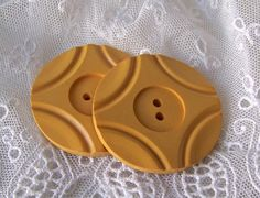 Vintage Large Butterscotch Bakelite Buttons Sewing Room Button