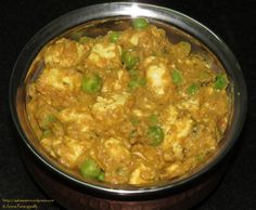 A different kind of Mutter Paneer!