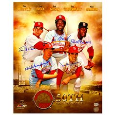 St. Louis Cardinals 1964 World Series 50-Year Anniversary Autographed Print  - MLB.com Shop