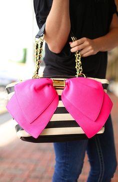 Bow-Nanza Handbag by Betsey Johnson. Would love it as s cross body