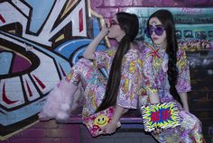 Models: No Frills Twins Styling and Photography: Chloe Elizabeth Garments: Goo-Life Clothing Accessories: Cut Throat On The Street  Clutches: Poppy Lissiman Make-Up: Jasmina Risteska-Tot and Abbey Parke Hair: Danny Cowan of Toni and Guy Armadale Nails: Lucy Scozzaro