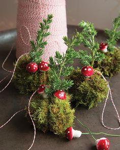 Living Kokedama Ornaments