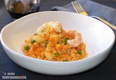 Arroz con sepia y gambas. http://www.gastronomiaycia.com/2015/02/05/arroz-con-sepia-y-gambas/