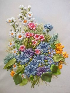 More beautiful ribbon embroidery... - Inspirations Magazine   Facebook