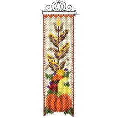 Harvest Time Beaded Banner Kit - Herrschners #pumpkin #autumn