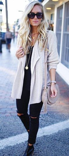 trendy casual outfit idea