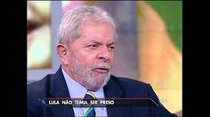SBT Brasil (10/03/16) Em entrevista ao SBT, Lula disse que não teme ser ...