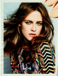 """Kristen Stewart photographed by Tesh in a photo shoot """"Girl on the Edge"""" (blown up) for """"Marie Claire"""" US magazine march 2014....."""