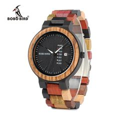 Colorful Wooden Watch Fashion Unisex