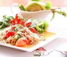 Papaya Salad with Crab (Som Tam(ส้มตำ)