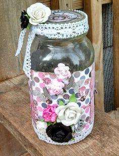 """LOVE"" Themed Altered Jar"