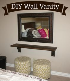 DIY your own Floating Wall Vanity. Ugh! Need to make one of these!