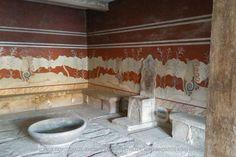 Κνωσός, Αίθουσα του θρόνου. Knossos, Throne room. https://www.facebook.com/103918513050399/photos/a.164221160353467.33101.103918513050399/826387260803517/?type=3&theater