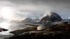 Snøhetta reveals sinuous hotel for a Norwegian island