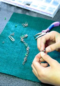 Learning how to make jewelry at Creative Arts Inc.