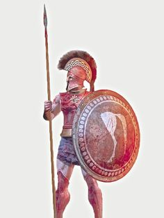 Greek Hoplite by Christos Giannopoulos Ancient Art, Ancient History, Greco Persian Wars, Greece Mythology, Greek Soldier, Classical Greece, Spartan Warrior, Greek Warrior, Greek History