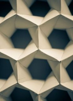 Would love to see this in structural engineering or architecture — origami folded paper hexagon