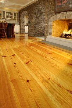 Antique Heart Pine Floors Refinished With Minwax Dark