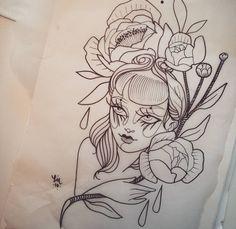 """572 curtidas, 7 comentários - Lucrezia*U (@lucreziau) no Instagram: """"🌌  Lazuli  #lucreziau #sketch #tattoo"""""""