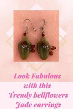 This set of Bellflower earrings sets the trend! This set is made of hand craved jade that is uniquely shaped with petals to add interest to your look. Wear your hair up or down, and this piece will not go unnoticed.