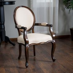 Sheridan Beige Scroll Pattern Fabric Oak Wood Dining Chairs Set Prepossessing Single Dining Room Chair Review