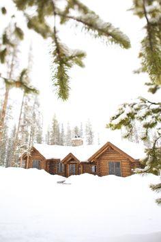 winter ranch cabin wedding