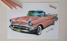 Instagram: @zpcengiz   1957 Chevrolet Bel Air ✏ @chevrolet #chevrolet #chevy #belair #drawing #classiccars Chevrolet Bel Air, Gto, Hot Rods, Mustang, Classic Cars, Japan, Drawings, Vehicles, Instagram