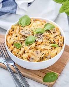 Super easy recipe using just 3 ingredients for a low-carb pasta alternative. Healthy and delicious meal. Gluten Free Recipes, Vegetarian Recipes, Cooking Recipes, Pasta Alternative, Mushroom Pasta, Meals For One, 3 Ingredients, Recipe Using, Super Easy