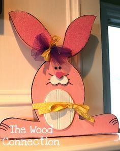 the wood connection: Bunny Door Hanger