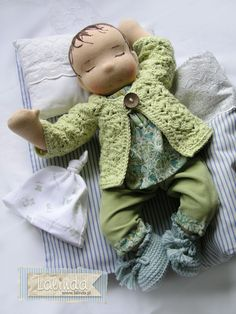 Marcia - waldorf inspired baby doll by Lalinda.pl