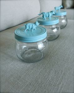 Aqua Animal Nursery Jar we can do this #mamasandpapas #dreamnursery