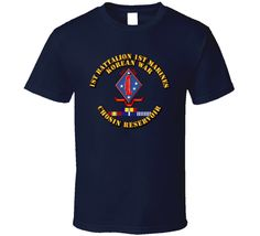 1st Bn 1st Marines - Korea - Chosin w SVC Ribbons T Shirt