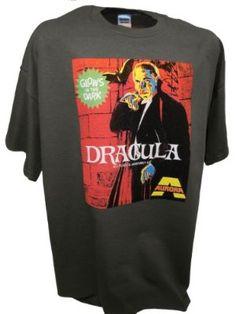 Men's Aurora Dracula Vampire Monster Model Kit Sci Fi Horror Movie T Shirt By Achtung T Shirt LLC:Amazon:Clothing