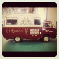 Amazing logo - love the vintage look of the truck!   EL BURRO - Cape Town, south Africa.