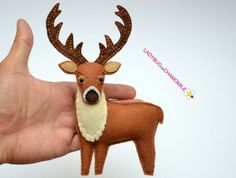 Forest and woodland animals. Felt Christmas, Christmas Crafts, Christmas Ornaments, Hanging Ornaments, Felt Ornaments, Forest Animals, Woodland Animals, Deer Ornament, Needle Felting Tutorials